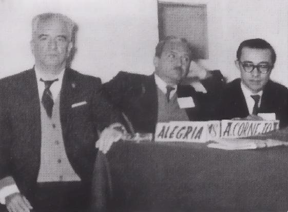 Ciro Alegría, Jose María Arguedas y Antonio Cornejo Polar en el Primer Congreso de Narradores Peruanos, 1965