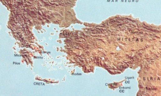 Ubicación geográfica de Troya