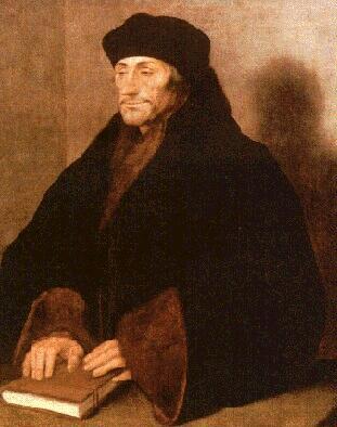 Brillante teólogo, escritor, erudito y humanista holandés, fue el principal intérprete de las corrientes intelectuales del renacimiento en el norte de Europa. Es considerado el más prestigioso de los humanistas.