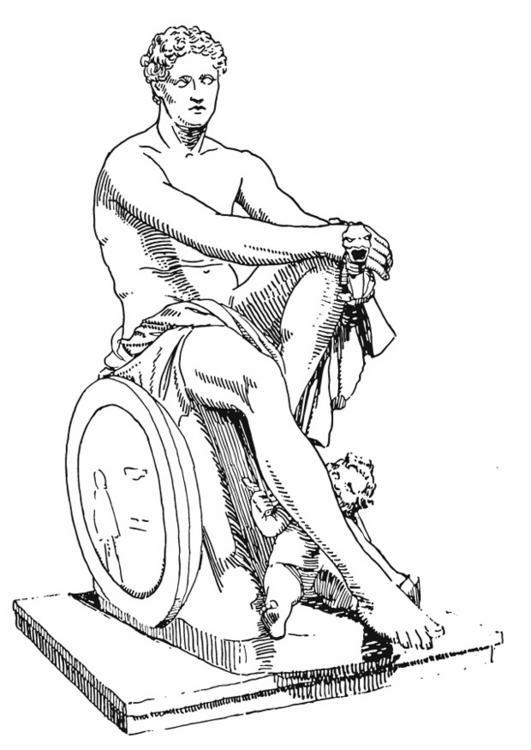 Line Drawing Of Zeus : MitologÍa griega maestro tutor interactivo