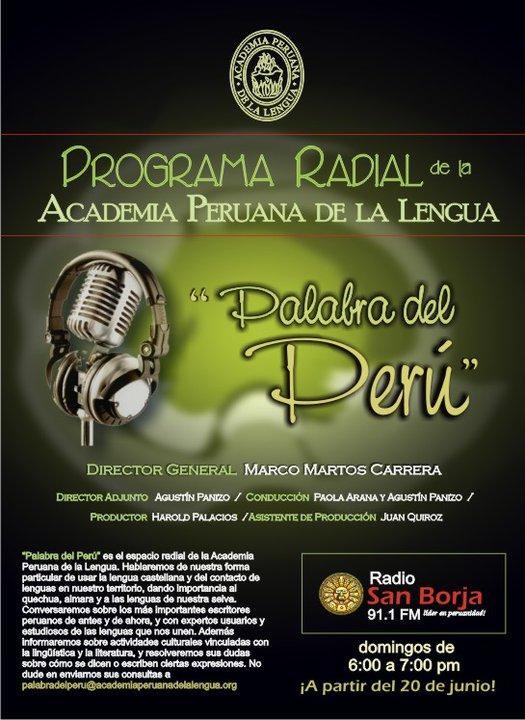 Espacio radial de la Academia Peruana de laLengua