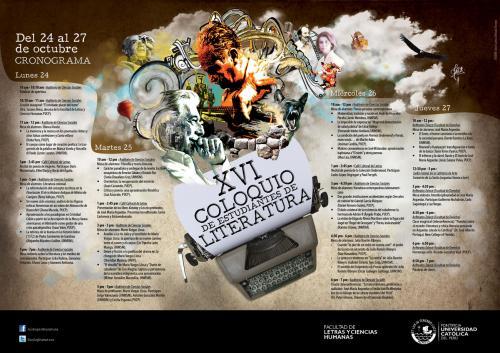 Cronograma XVI Coloquio de Estudiantes de LiteraturaPUCP