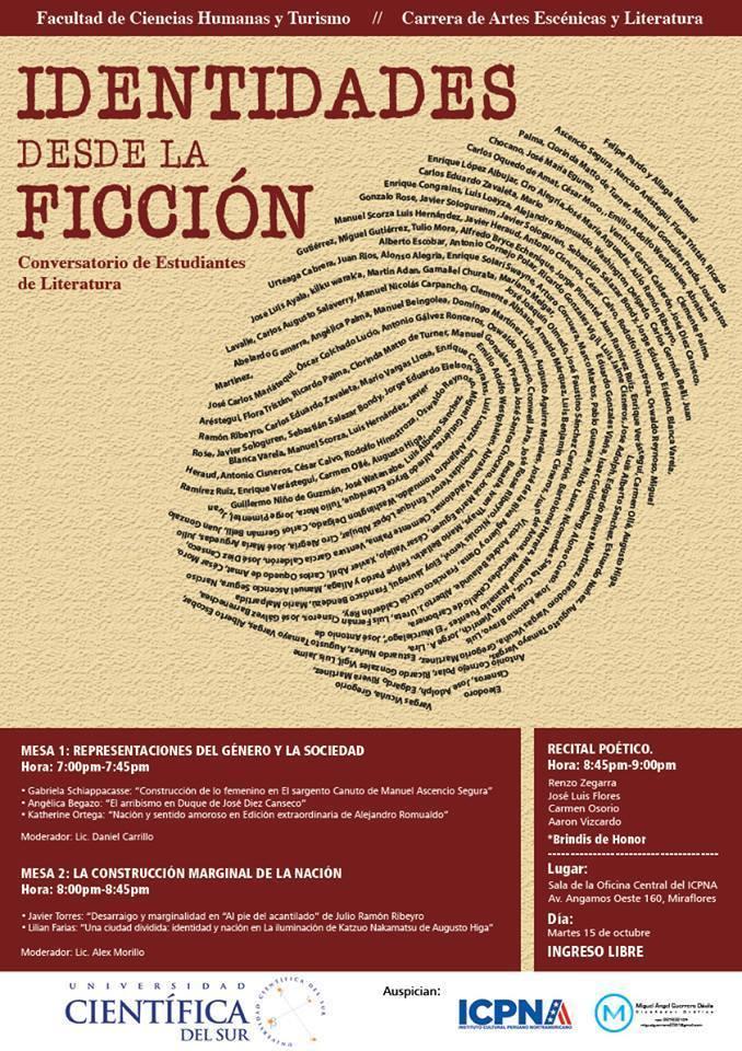 CONVERSATORIO DE ESTUDIANTES DE LITERATURA DE LA UNIVERSIDAD CIENTÍFICA DELSUR