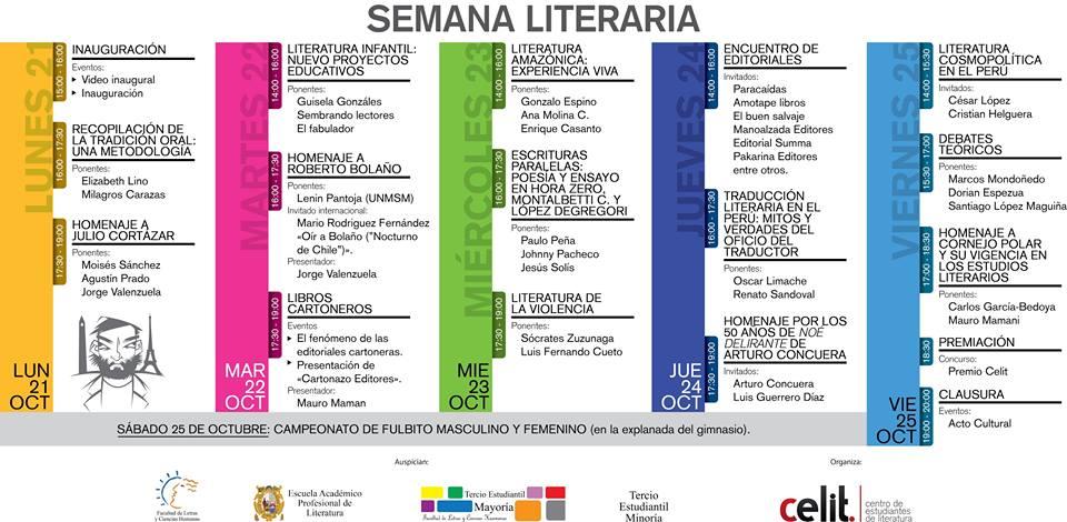 Semana de la literatura en Facultad de Letras de SanMarcos