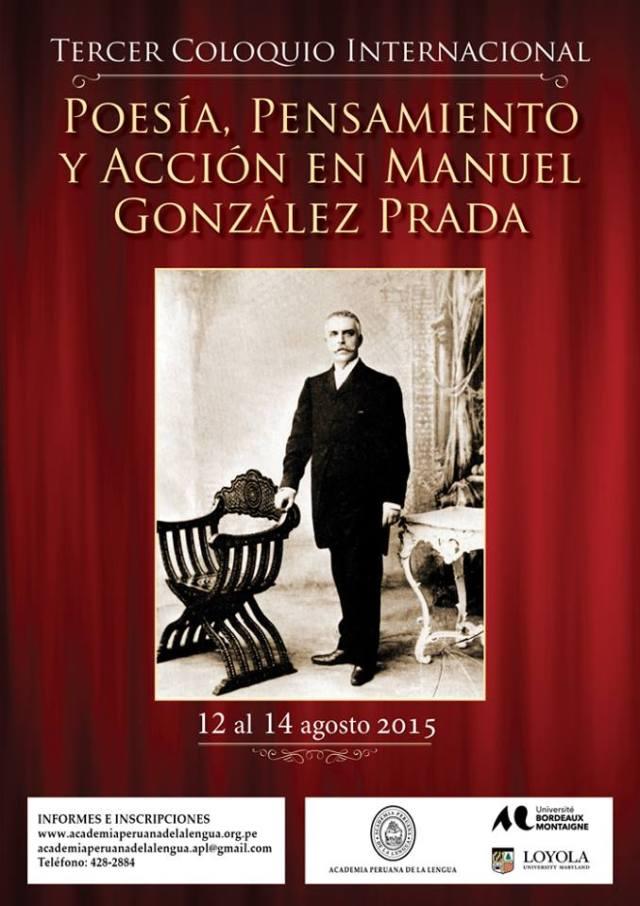 Afiche coloquio González Prada