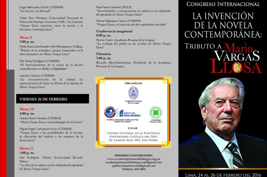 La invención de la novela contemporánea: Tributo a Mario VargasLlosa